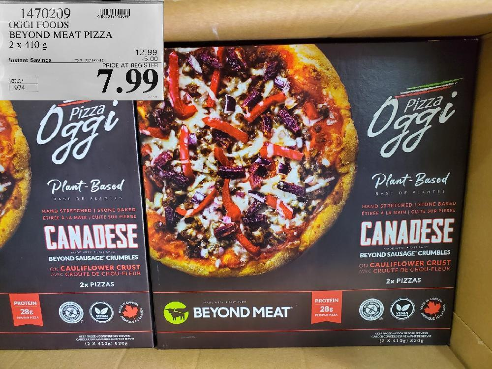 1470209 OGGI FOODS BEYOND MEAT PIZZA 2X410G EXPIRY DATE: 2021-01-17 $7.99