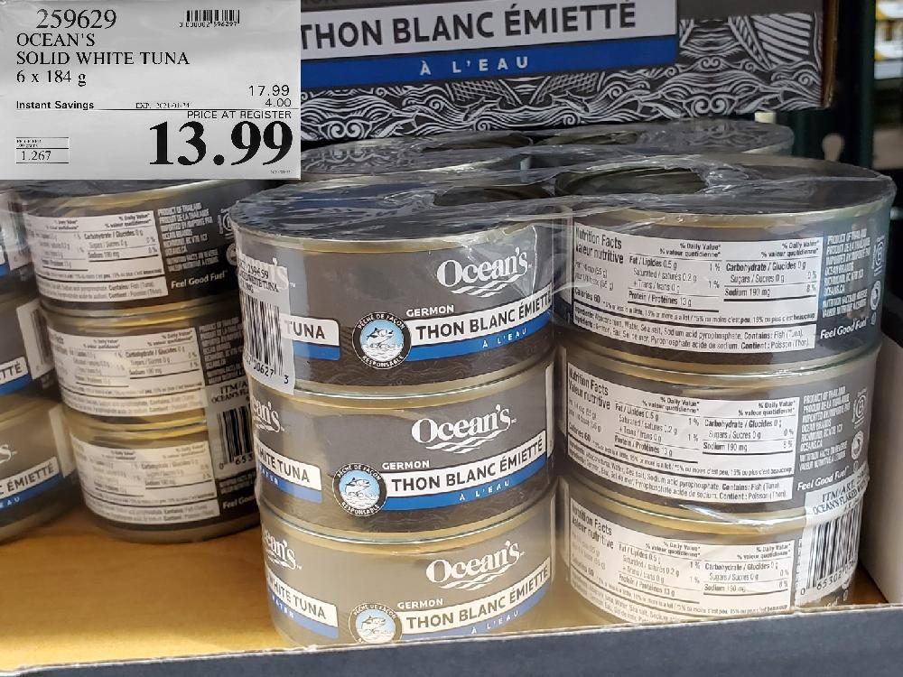 259629 OCEAN'S SOLID WHITE TUNA 6x 184G EXPIRY DATE: 2021-01-24 $13.99