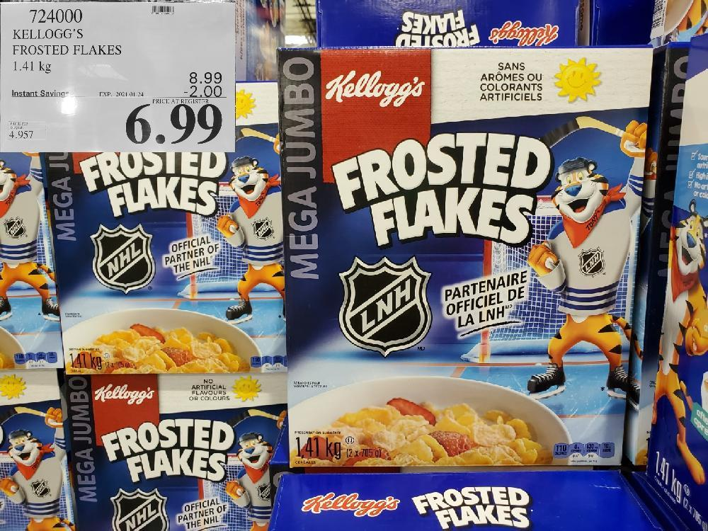 724000 FROSTED FLAKES 1.41 kg EXPIRY DATE: 2021-01-24 $6.99