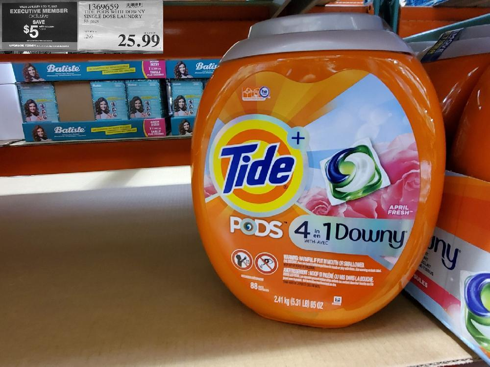 1369659 TIDE PODS WITH DOWNY exclusive SINGLE DOSE LAUNDRY 88 pacs $25.99