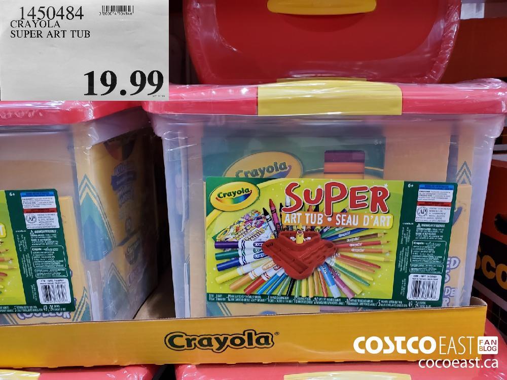 1450484 CRAYOLA SUPER ART TUB $19.99