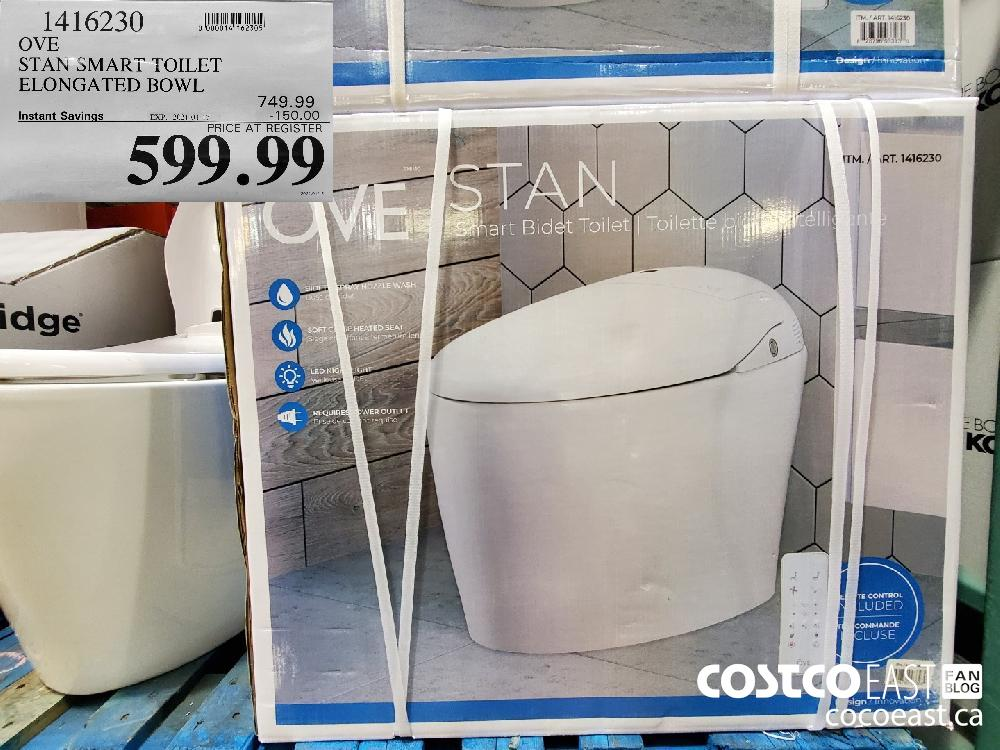1416230 OVE STAN SMART TOILET ELONGATED BOWL EXPIRY DATE: 2021-01-17 $599.99
