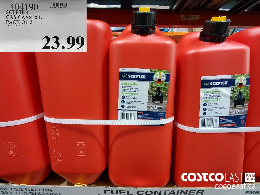 $23.99 SCEPTER GAS CANS 20L PACK OF 2 $23.99