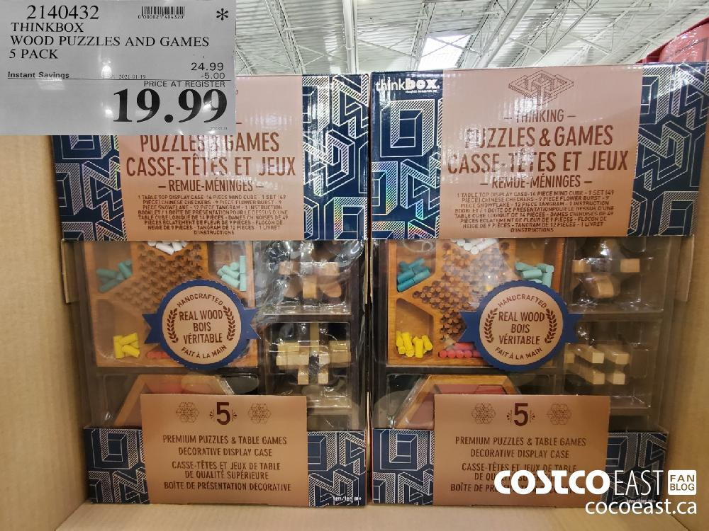 2140432 THINKBOX WOOD PUZZLES AND GAMES 5S PACK ; EXPIRY DATE: 2021-01-19 $19.99