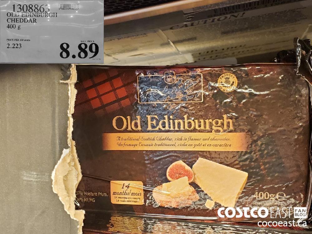 1308863 OLD EDINBURGH CHEDDAR 400 g $8.89