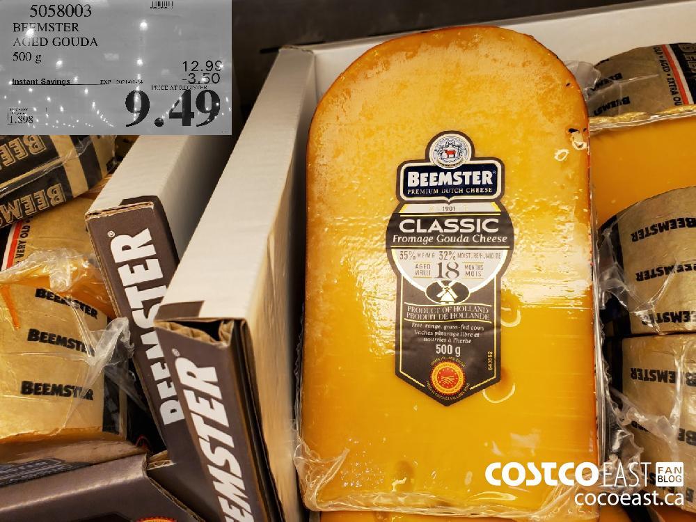 Costco weekend sales 5058003 BEEMSTER AGED GOUDA 500G EXPIRY DATE: 2021-01-24 $9.49