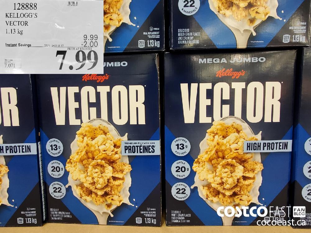 Costco weekend sales 128888 KELLOGG'S VECTOR EXPIRY DATE: 2021-01-17 $7.99