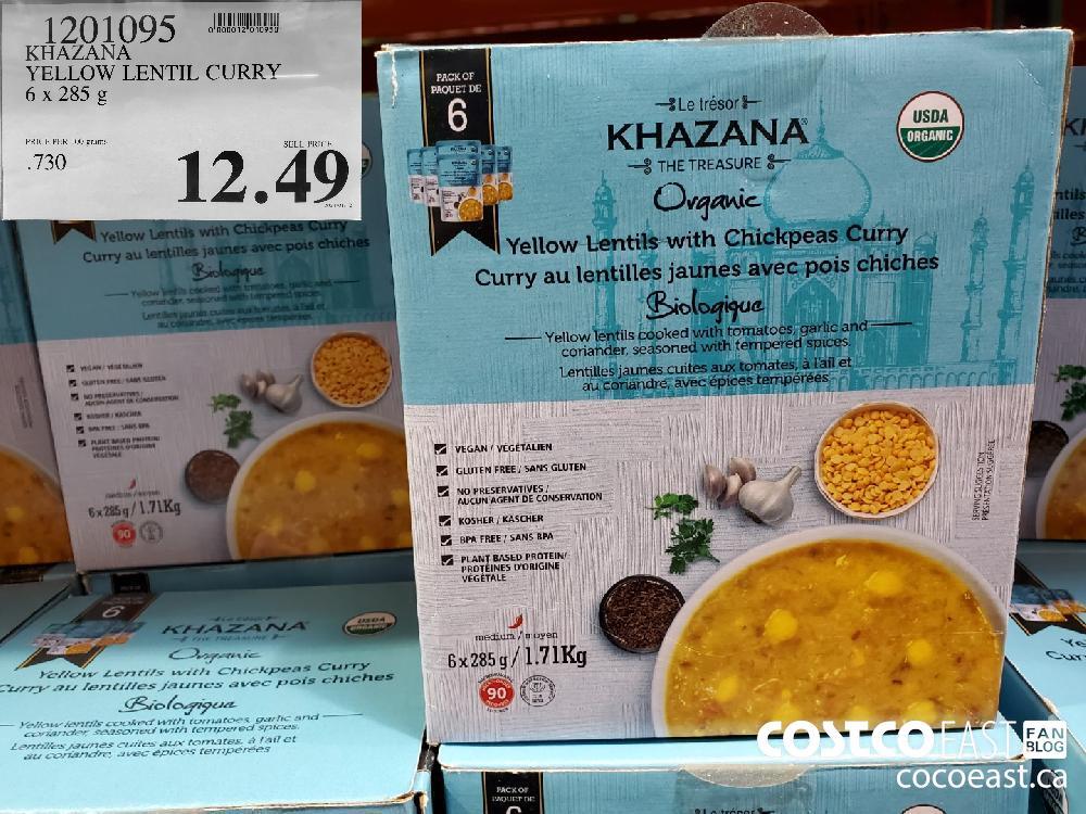 1201095 KHAZANA YELLOW LENTIL CURRY 6x 285 g $12.49