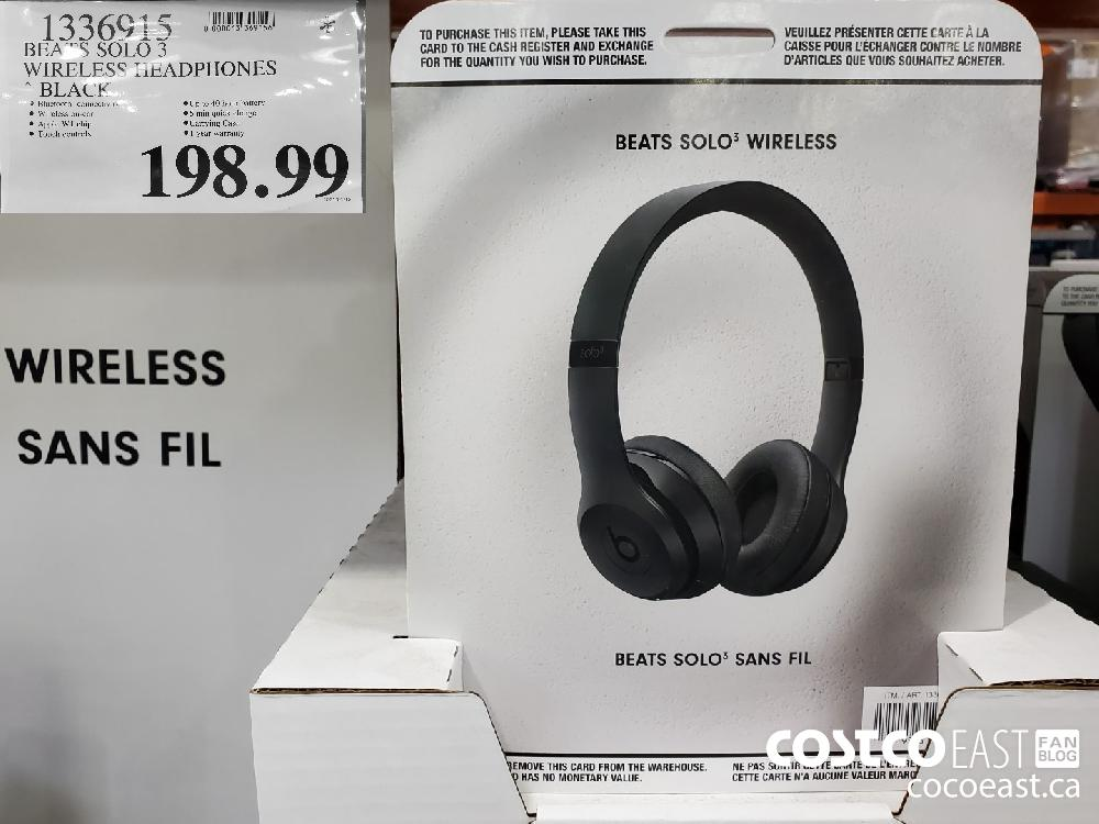 """1336615 BEATS SOLO 3 WIRELESS 1:1HADPHONES """" ~ BLACK $198.99"""