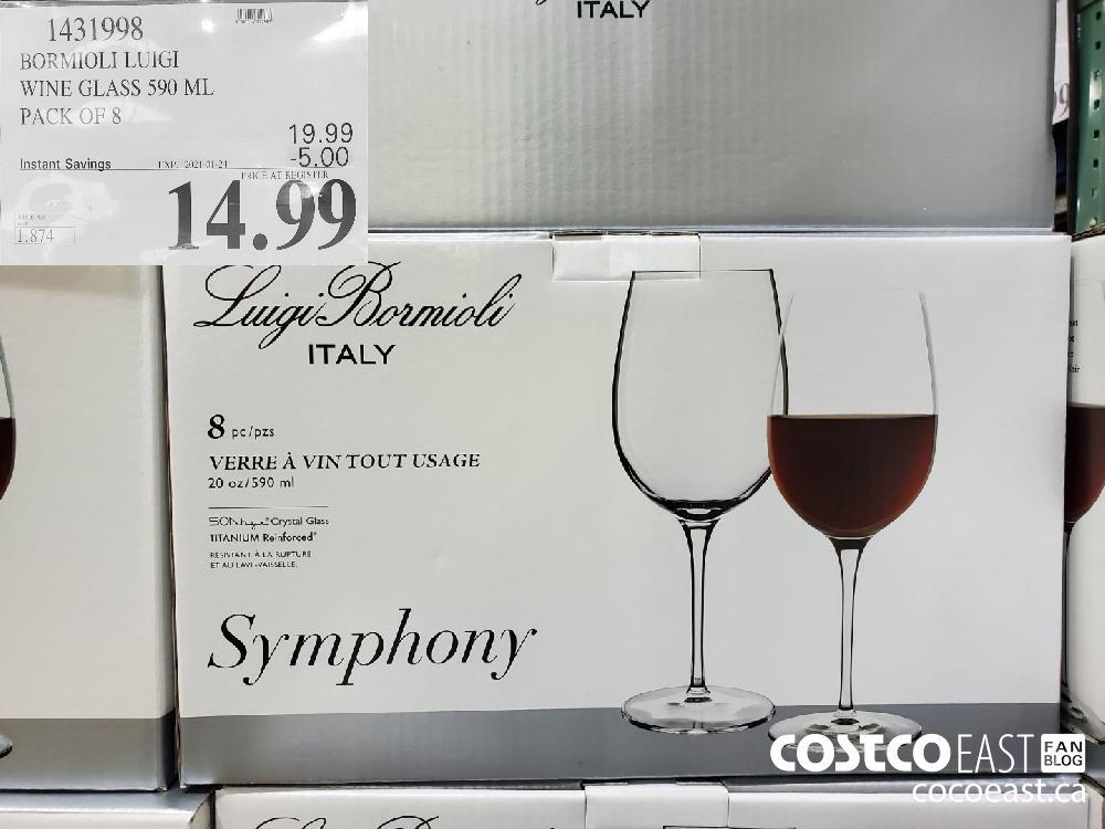 1431998 BORMIOLI LUIGI WINE GLASS 590 ML EXPIRY DATE: 2021-01-24 $14.99