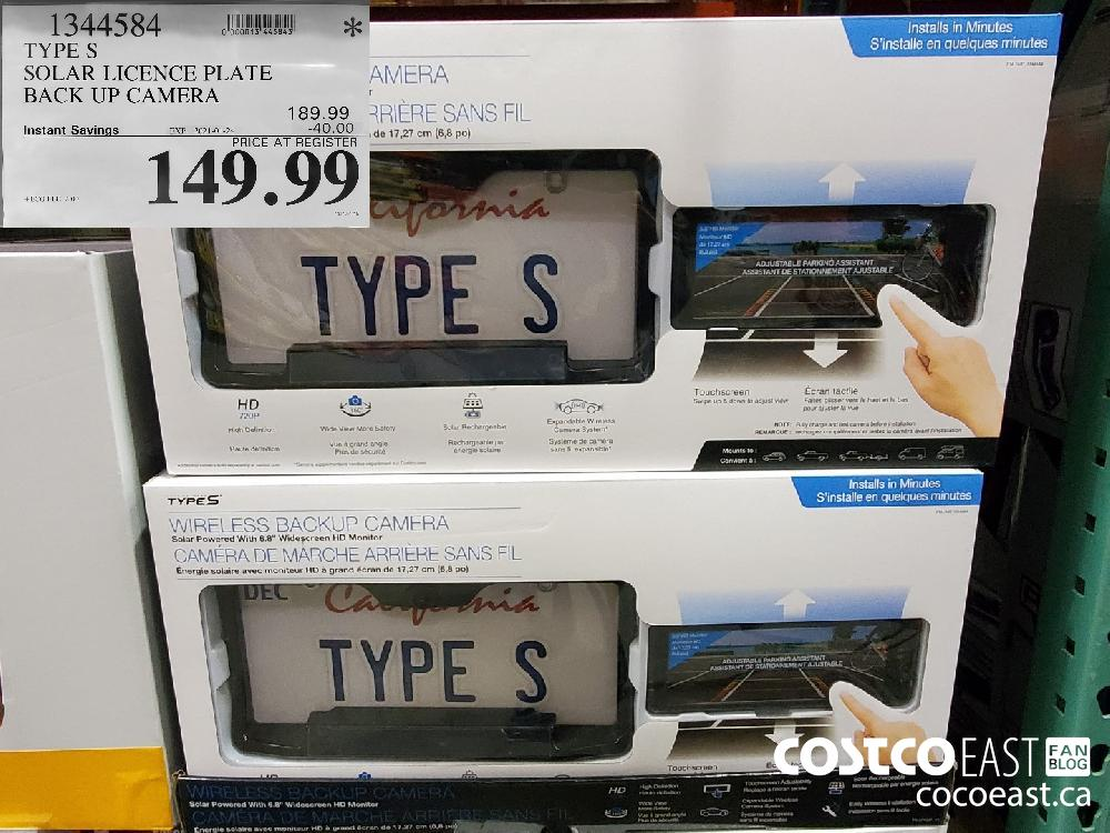 1344584 TYPES SOLAR LICENCE PLATE BACK UP CAMERA EXPIRY DATE: 2021-01-24 $149.99