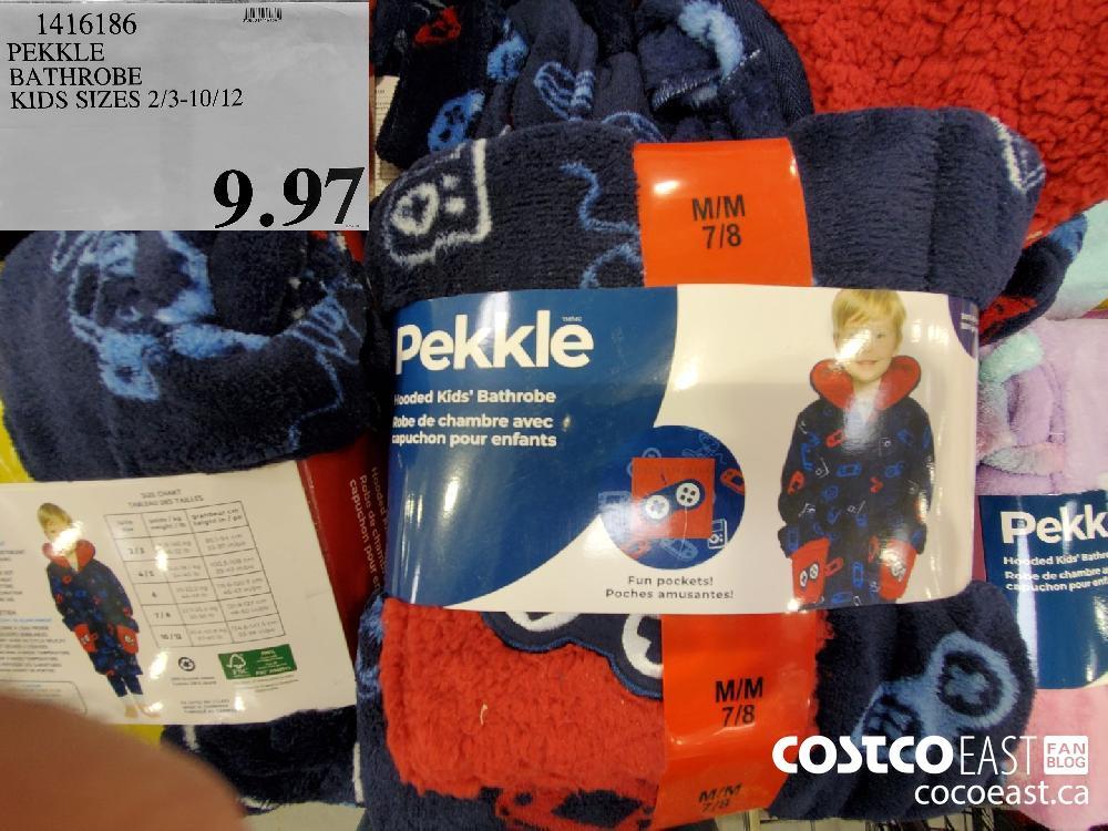 1416186 PEKKLE BATHROBE KIDS SIZES 2/3-10/12 $9.97