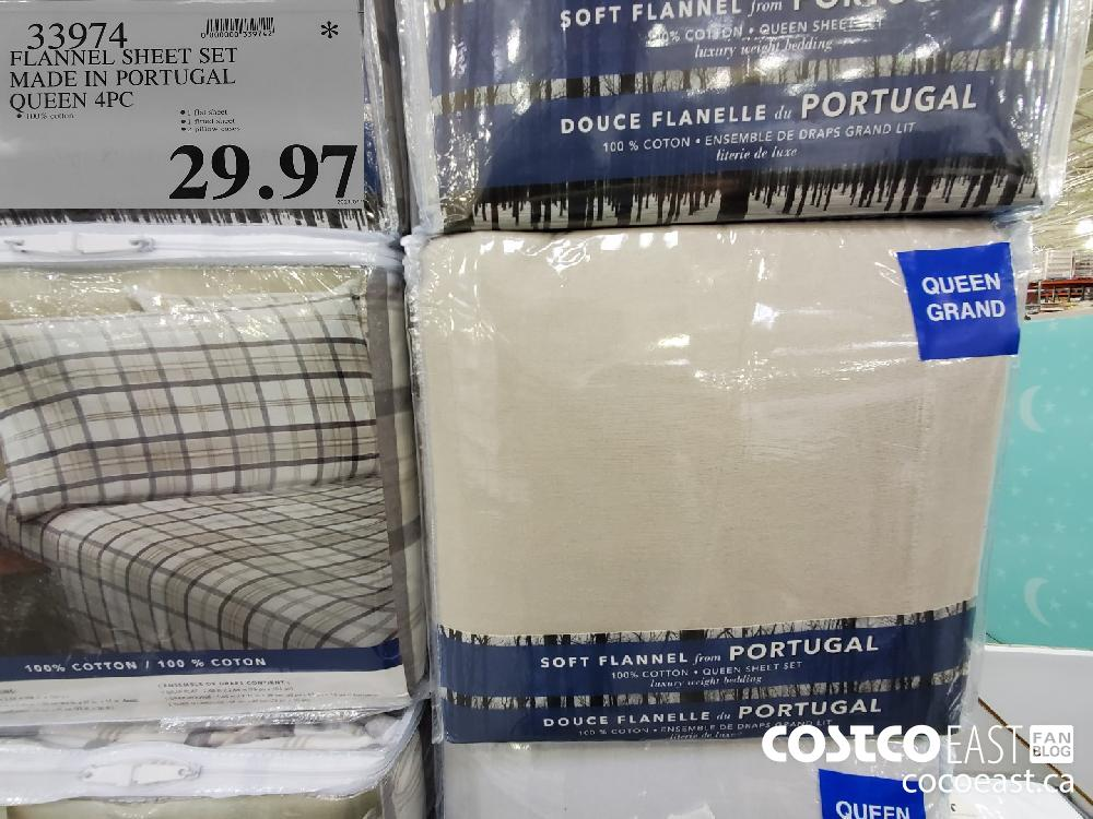 33974 FLANNEL SHEET SET MADE IN PORTUGAL QUEEN 4PC $29.97