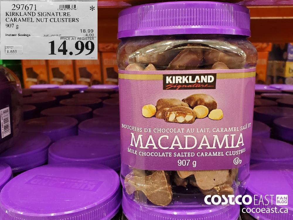 297671 KIRKLAND SIGNATURE CARAMEL NUT CLUSTERS 907 G EXPIRY DATE: 2021-01217 $14.99