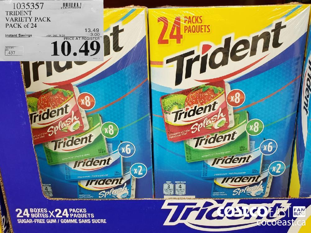 1035357 TRIDENT VARIETY PACK PACK of 24 EXPIRY DATE: 2021-01-24 $10.49