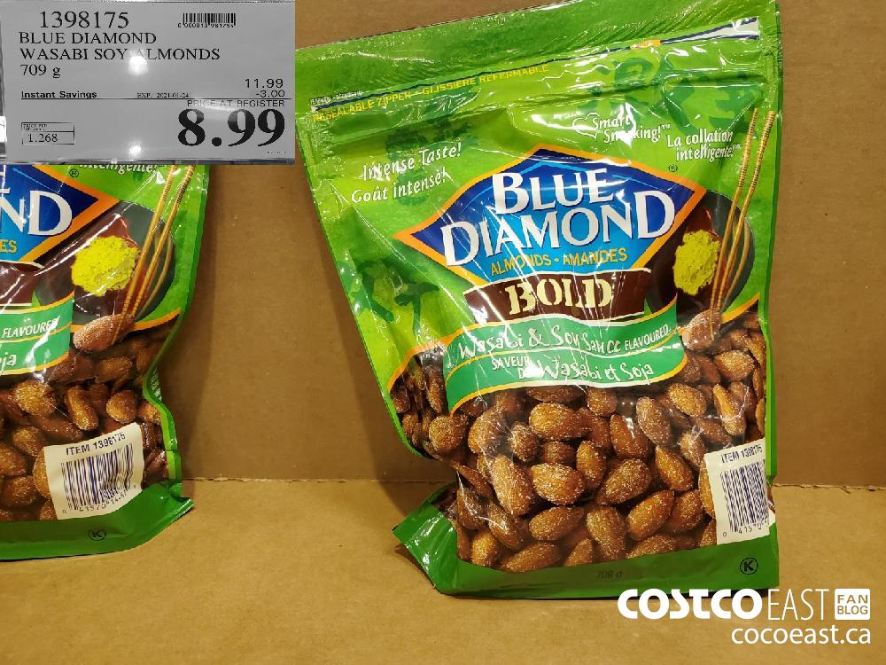 1398175 BLUE DIAMOND WASABI SOY ALMONDS EXPIRY DATE: 2021-01-24 $8.99