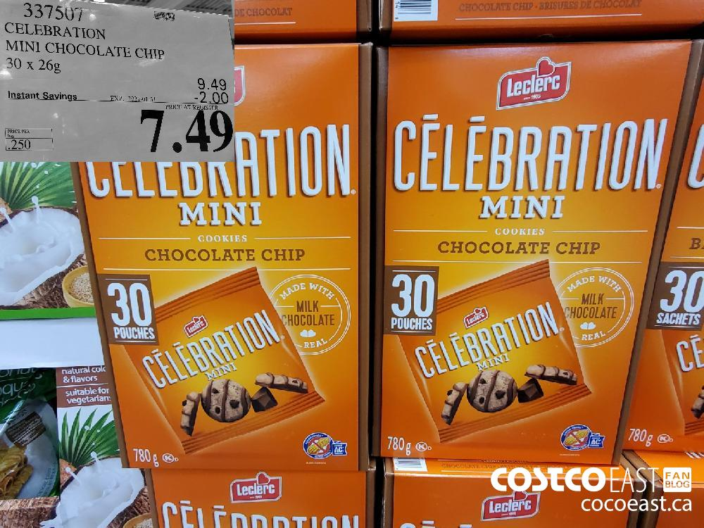 337507 CELEBRATION MINI CHOCOLATE CHIP 30 X 26G EXPIRY DATE: 2021-01-31 $7.49