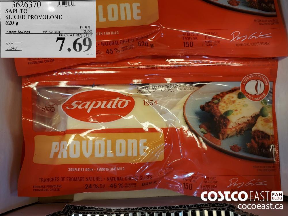 3626370 SAPUTO SLICED PROVOLONE 620 g EXPIRY DATE: 2021-01-24 $7.69