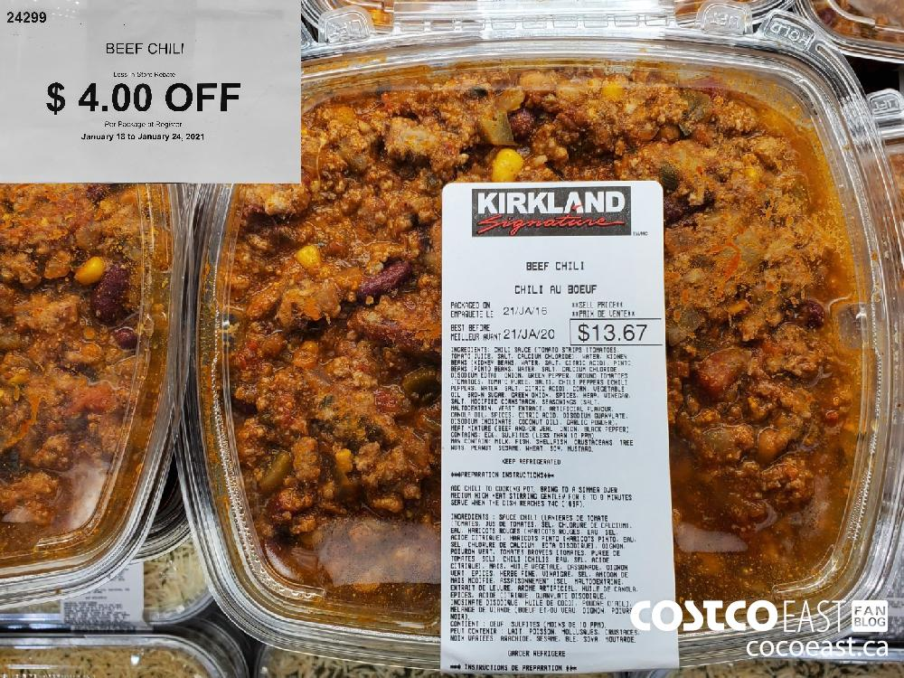 24299 beef CHILI Less In-Store Rebate $4.00 OFF January 18 to January 24 2021