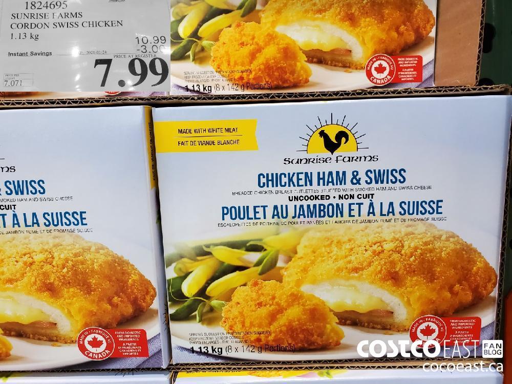 1824695 SUNRISE FARMS CORDON SWISS CHICKEN 1.13 kg | EXPIRY DATE: 2021-01-24 $7.99