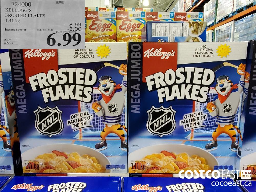 724000 KELLOGG'S FROSTED FLAKES 1.41 kg EXPIRY DATE: 2021-01-24 $6.99