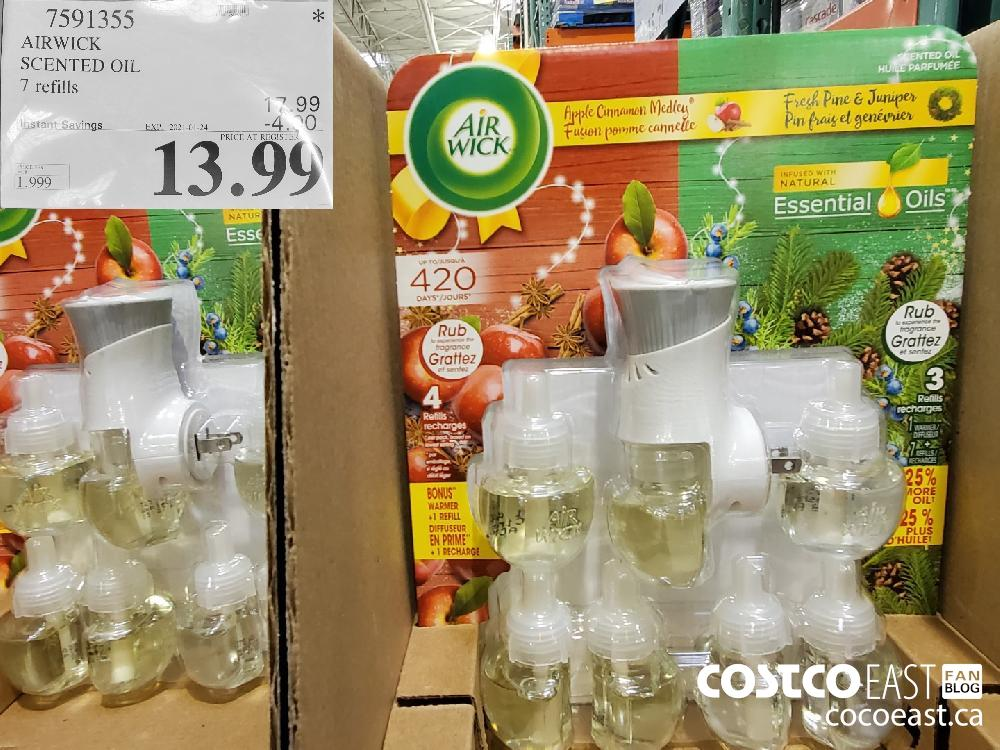 7591355 AIRWICK SCENTED OIL 7 REFILLS EXPIRY DATE: 2021-01-24 $13.94