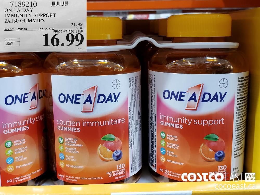 7189210 ONE A DAY IMMUNITY SUPPORT 2X130 GUMMIES EXPIRY DATE: 2021-01-31 $16.99