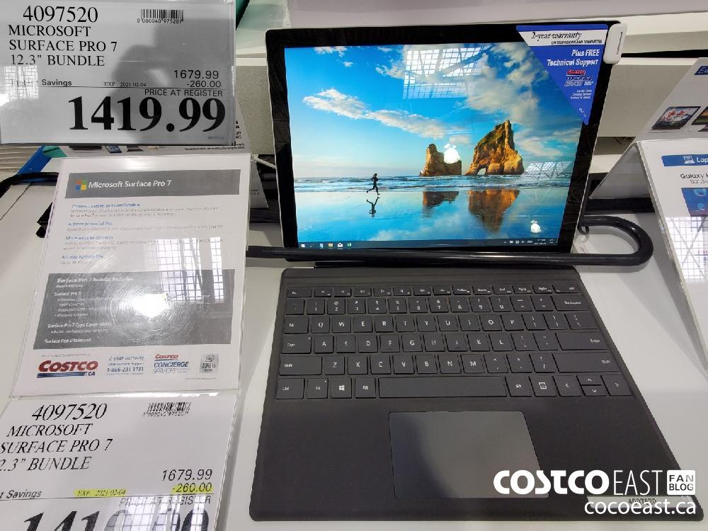 "4097520 MICROSOFT SURFACE PRO 7 12.3"" BUNDLE EXPIRY DATE: 2021-02-04 $1419.99"