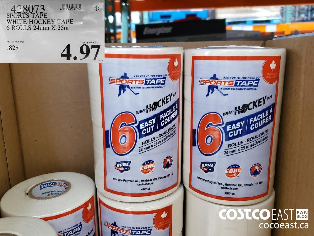 428073 SPORTS TAPE WHITE HOCKEY TAPE 6 ROLLS 24mm X 25m $4.97