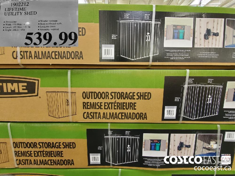 1902212 LIFETIME UTILITY SHED $539.99
