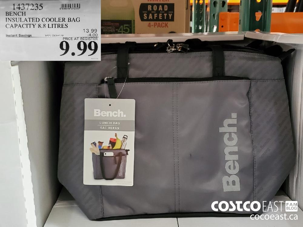 1437235 BENCH INSULATED COOLER BAG CAPACITY 8.8 LITRES EXPIRY DATE: 2021-01-31 $9.99
