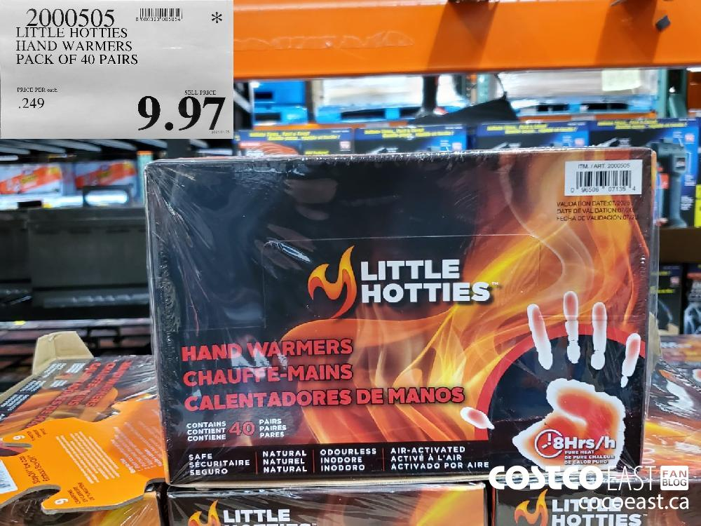 2000505 LITTLE HOTTIES HAND WARMERS ~ PACK OF 40 PAIRS $9.97
