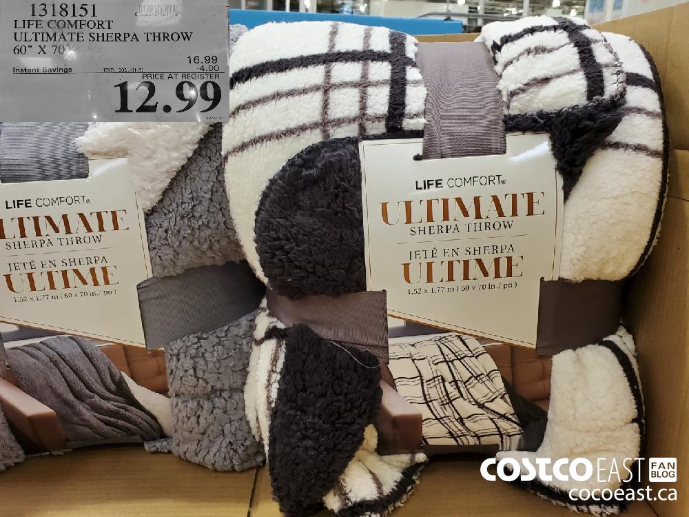 "13138151 LIFE COMFORT ULTIMATE SHERPA THROW 60"" X 70"" EXPIRY DATE: 2021-01-31 $12.99"