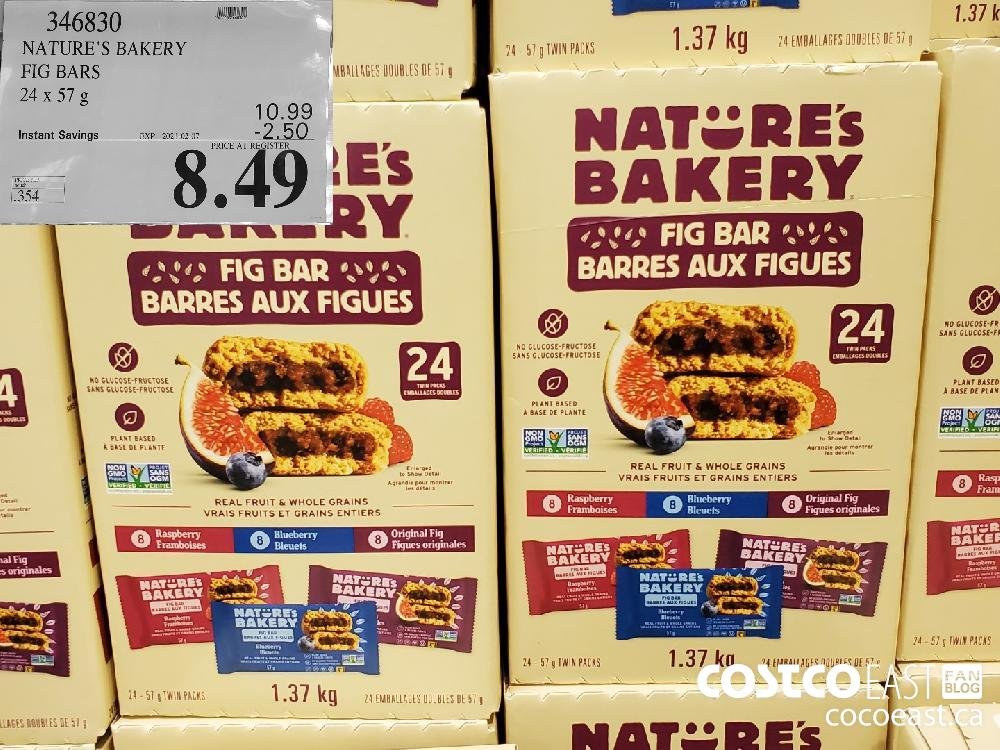 346830 NATURE'S BAKERY FIG BARS 24x57 G EXPIRY DATE: 2021-02-07 $8.49