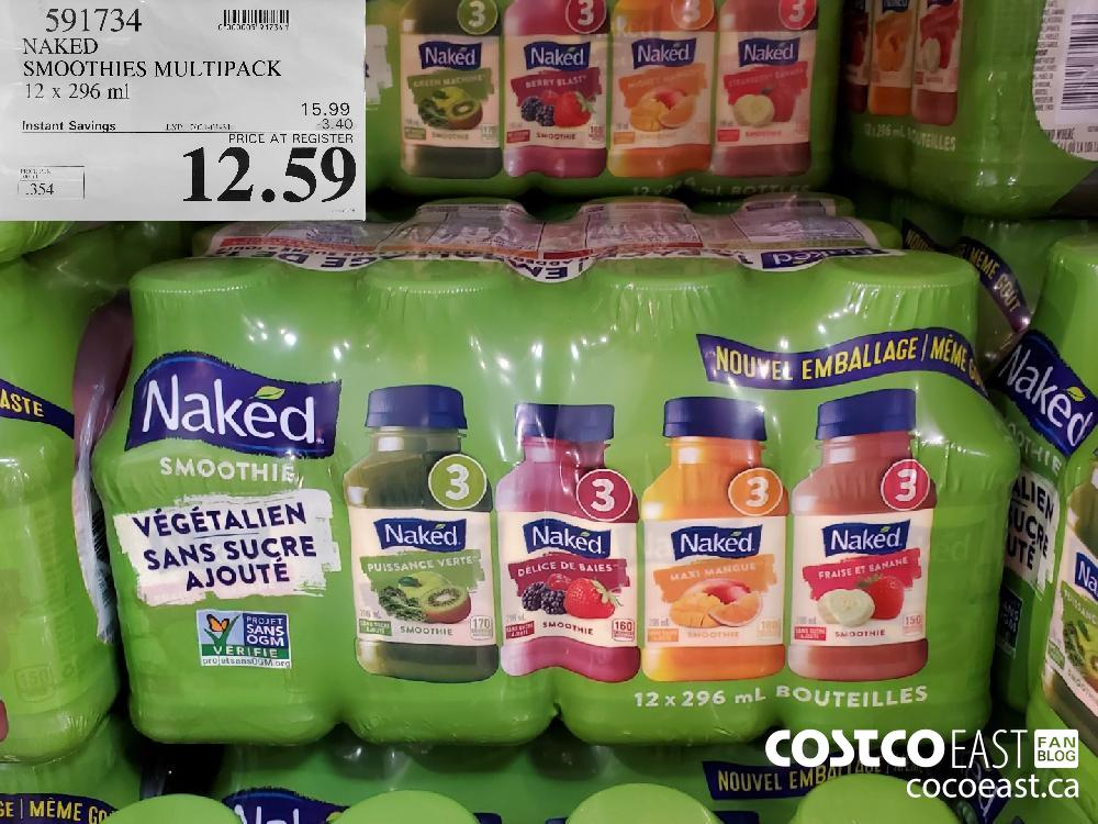 591734 NAKED SMOOTHIES MULTIPACK 12 x 296 ml EXPIRY DATE: 2021-01-31 $12.59