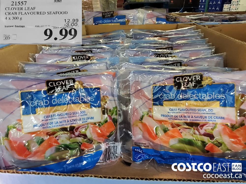 21557 CLOVER LEAF CRAB FLAVOURED SEAFOOD 4 x 300 g EXPIRY DATE: 2021-01-31 $9.99