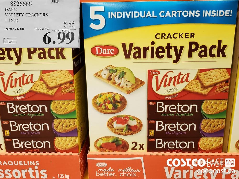 8826666 DARE VARIETY CRACKERS 1.15KG EXPIRY DATE: 2021-02-07 $6.99