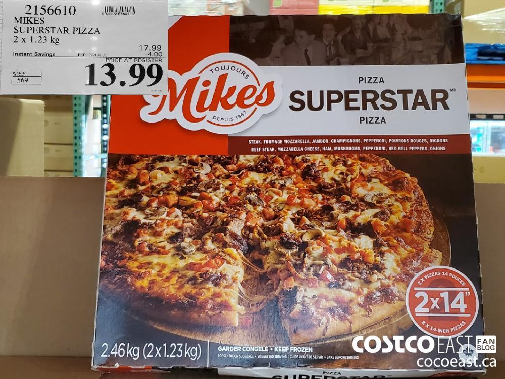 2156610 MIKES SUPERSTAR PIZZA 2 X 1.23 KG EXPIRY DATE: 2021-01-31 $13.99