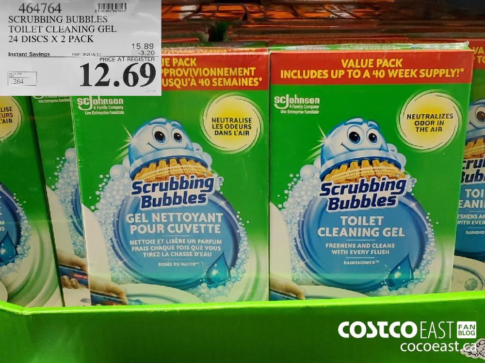 464764 SCRUBBING BUBBLES TOILET CLEANING GEL 24 DISCS X 2 PACK EXPIRY DATE: 2021-02-07 $12.69