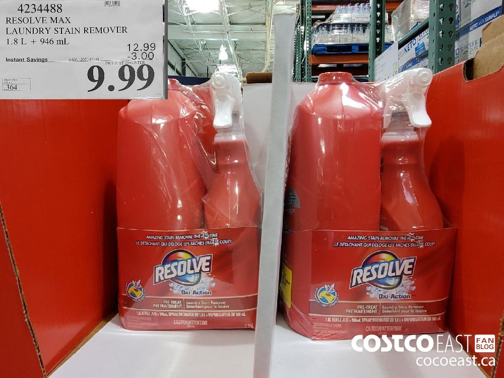 4234488 RESOLVE MAX LAUNDRY STAIN REMOVER 1.8 L 946 mL EXPIRY DATE: 2021-01-31 $9.99