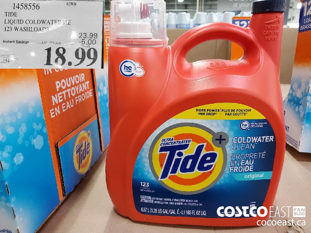 1458556 TIDE LIQUID COLDWATER 123 WASHLOAD EXPIRY DATE: 2021-01-31 $18.99