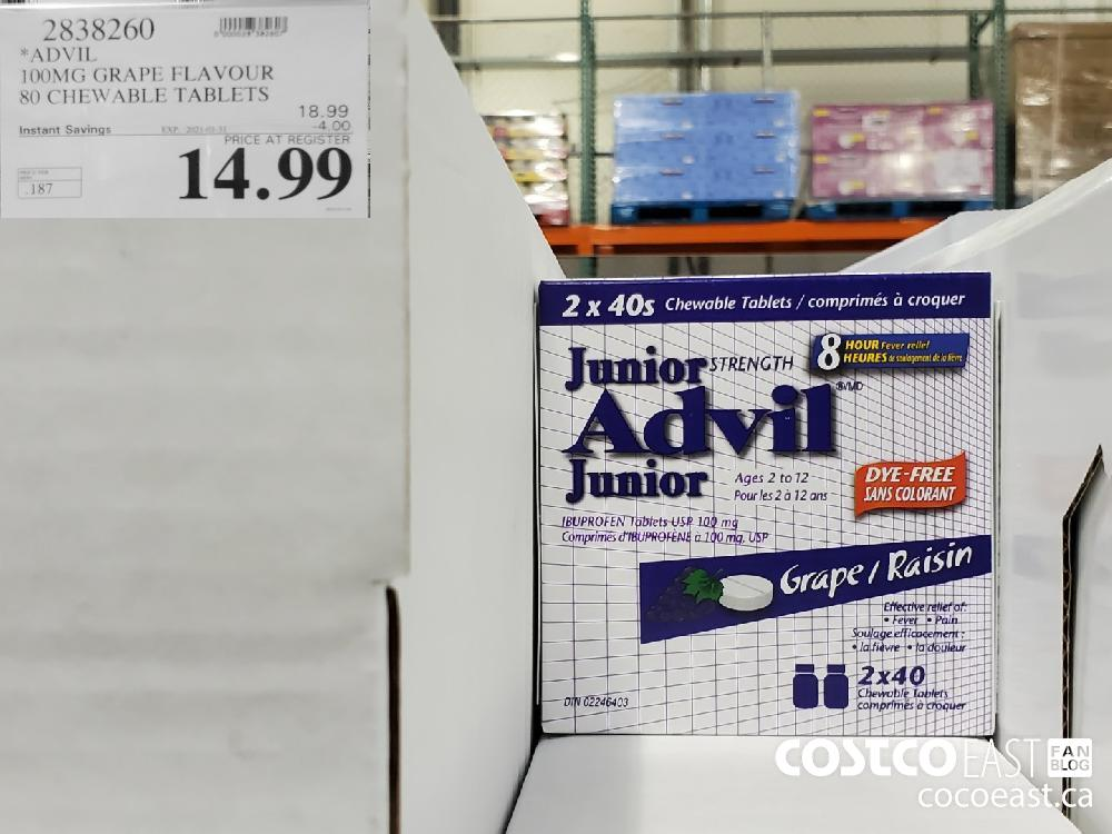 2838260 *ADVII 1OOMG GRAPE FLAVOUR 80 CHEWABLE TABLETS : EXPIRY DATE: 2021-01-31 $14.99