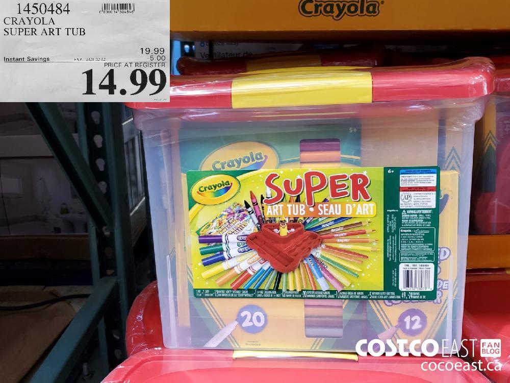 1450484 CRAYOLA SUPER ART TUB EXPIRY DATE: 2021-02-02 $14.99