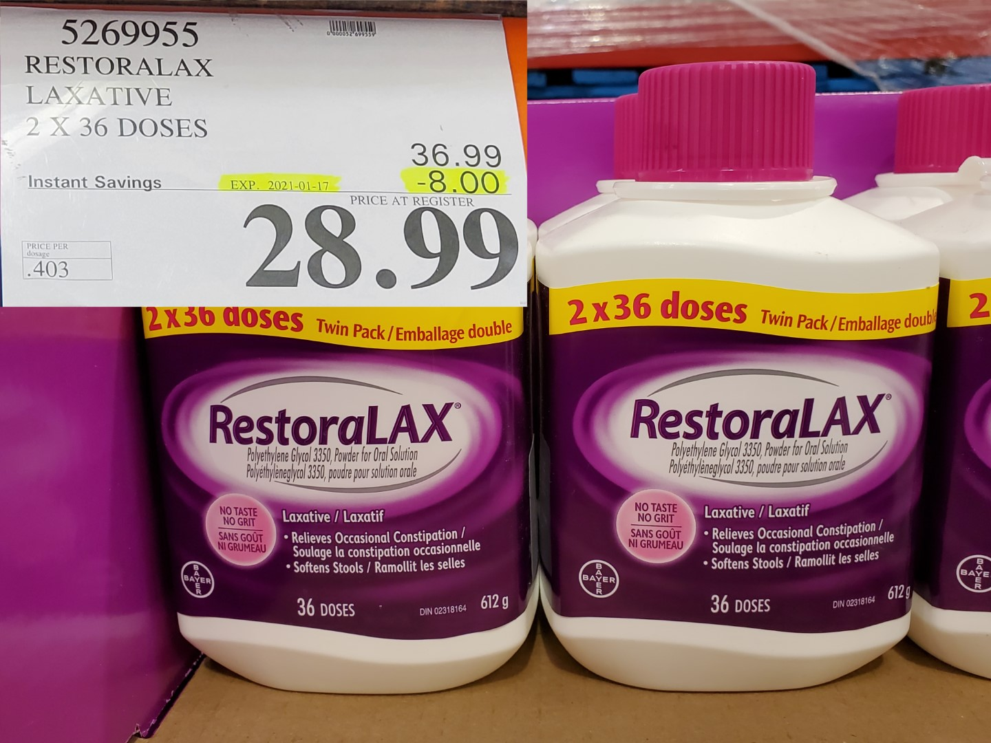 Costco Sale restoralax