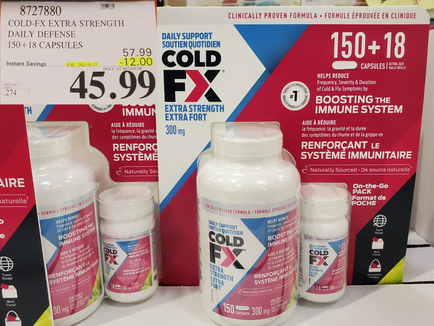Costco Sale cold fx