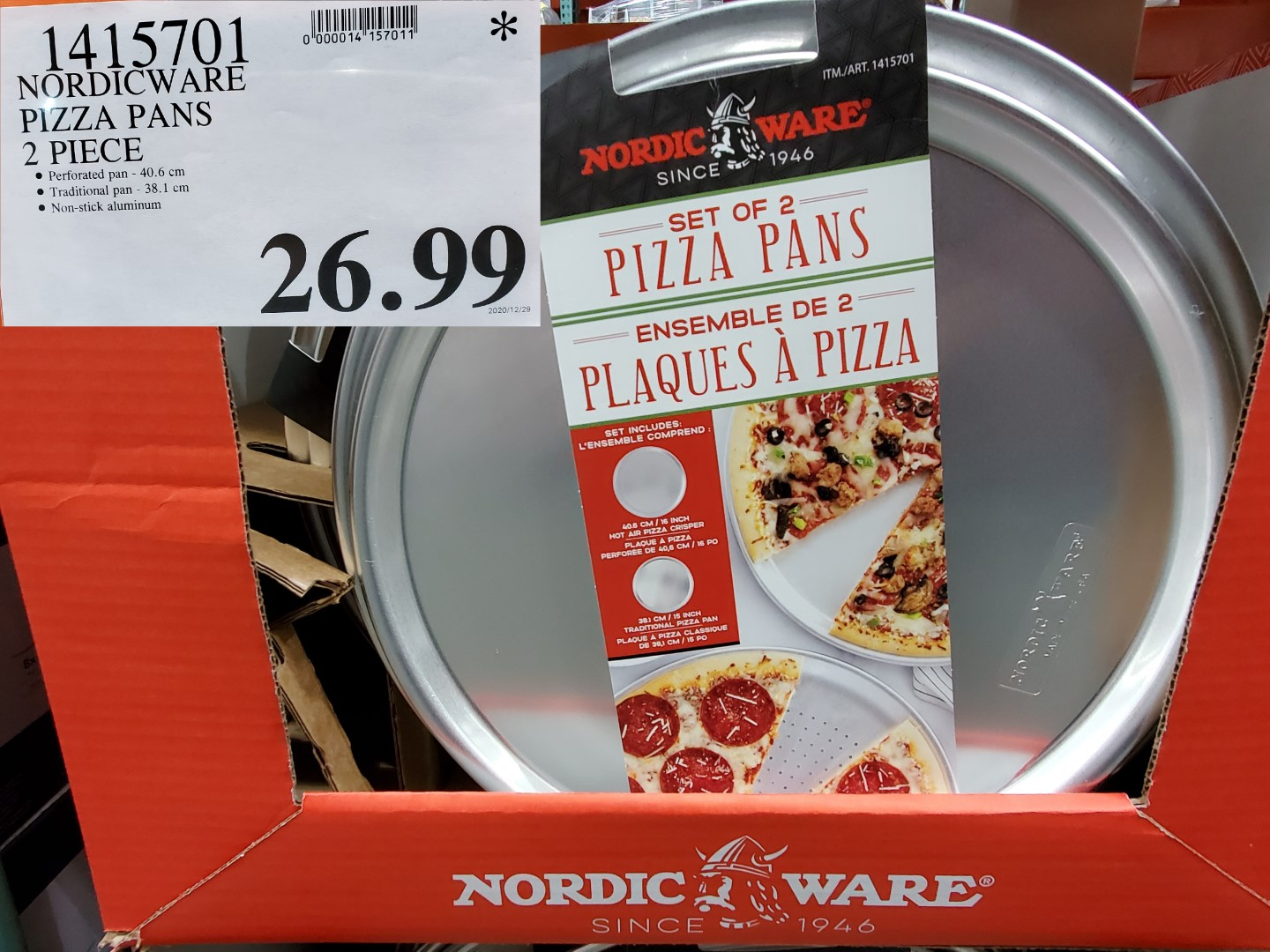 Costco Sale nordic ware pizza pans