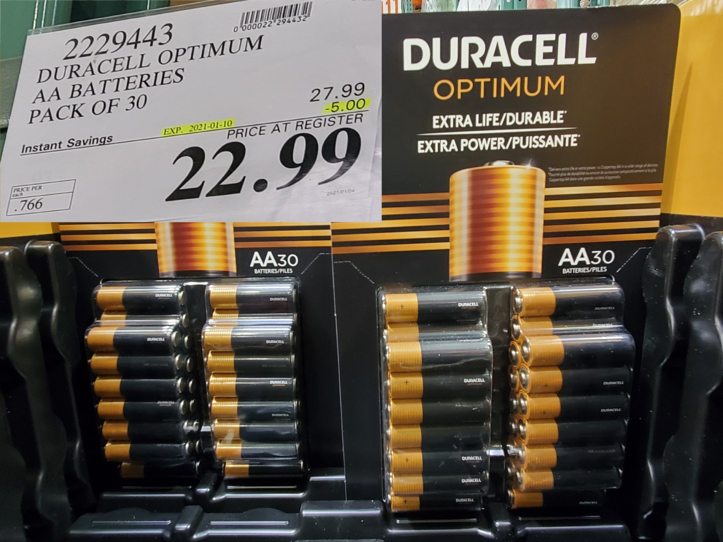 Saleduracell optimum