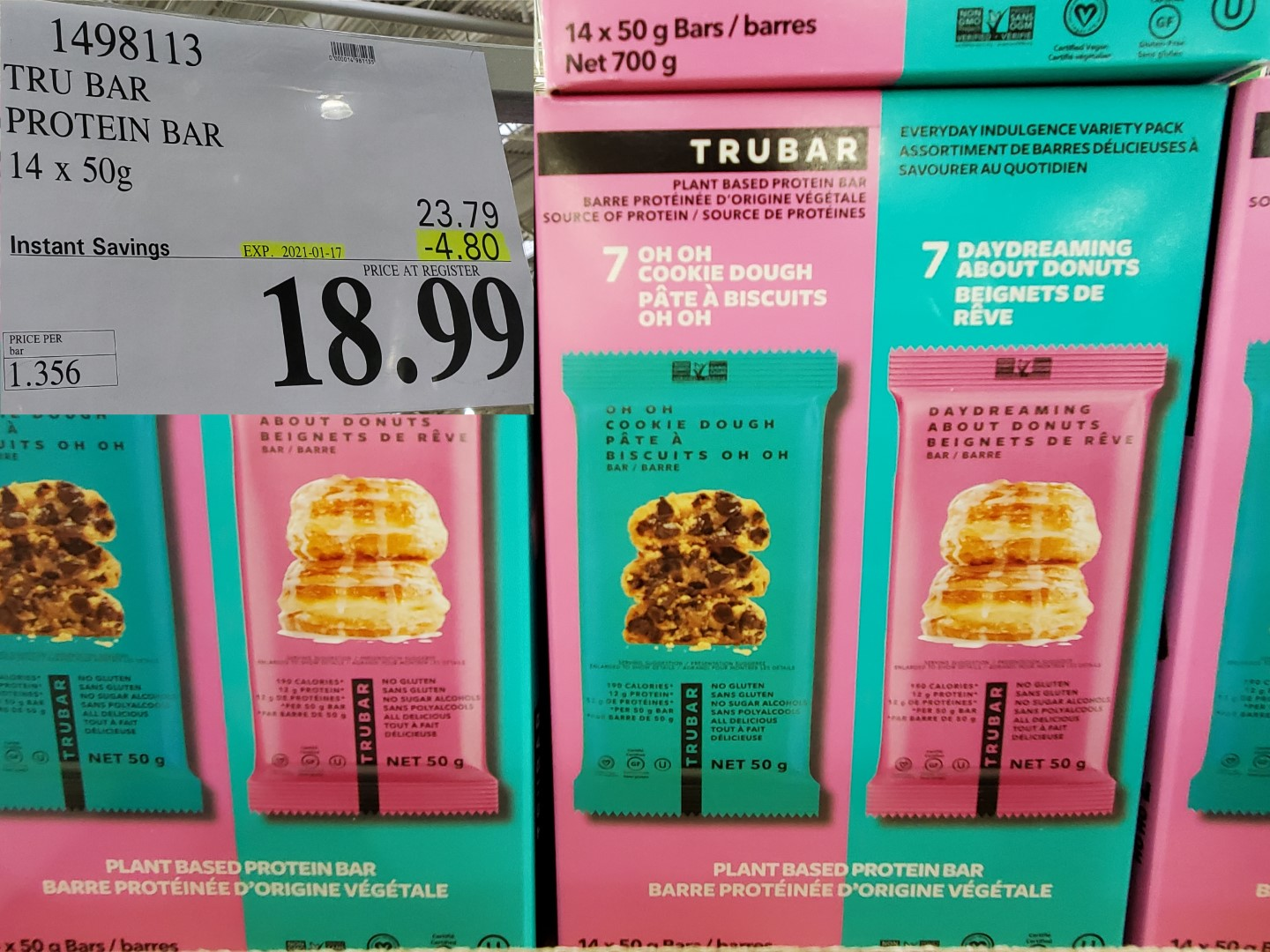 Costco Sale Tru Bar