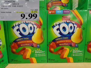 Costco Sale fruit by the foot