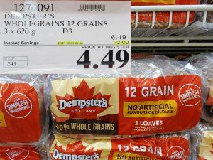 Costco Sale demptsters 12 grain bread